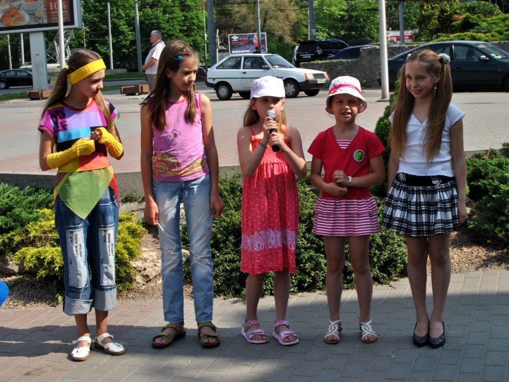 Детки из детской ассоциации защиты животных Днепропетровск